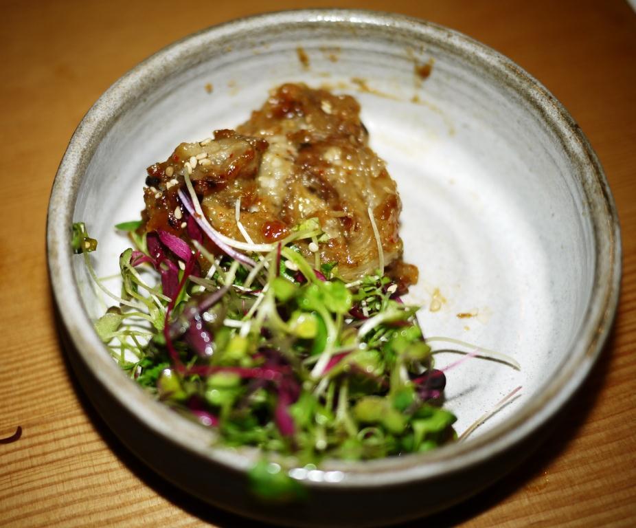 Pabu tiny eggplants with spicy miso glaze