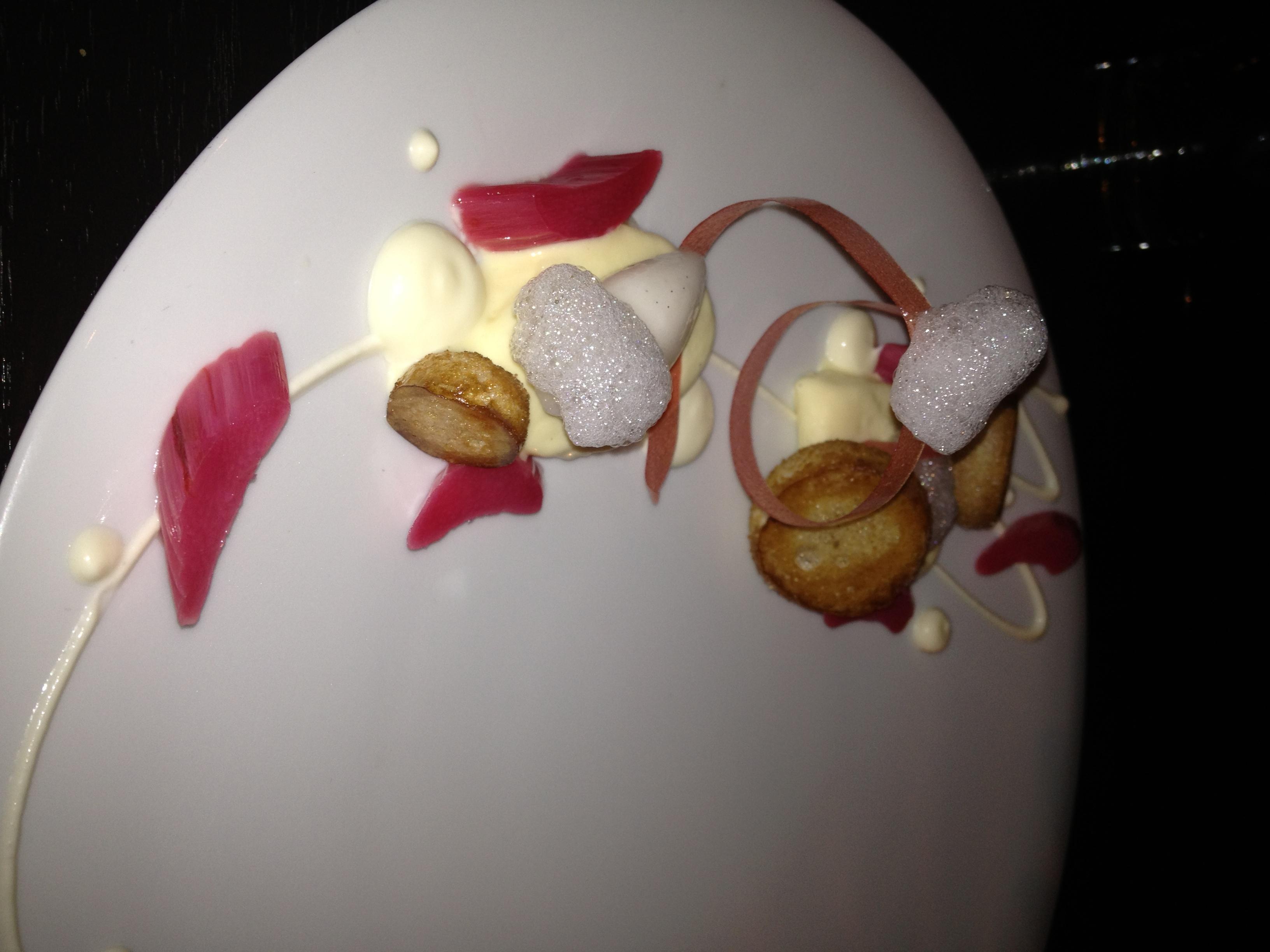 empellon cocina vanilla ice cream with rhubarb.JPG