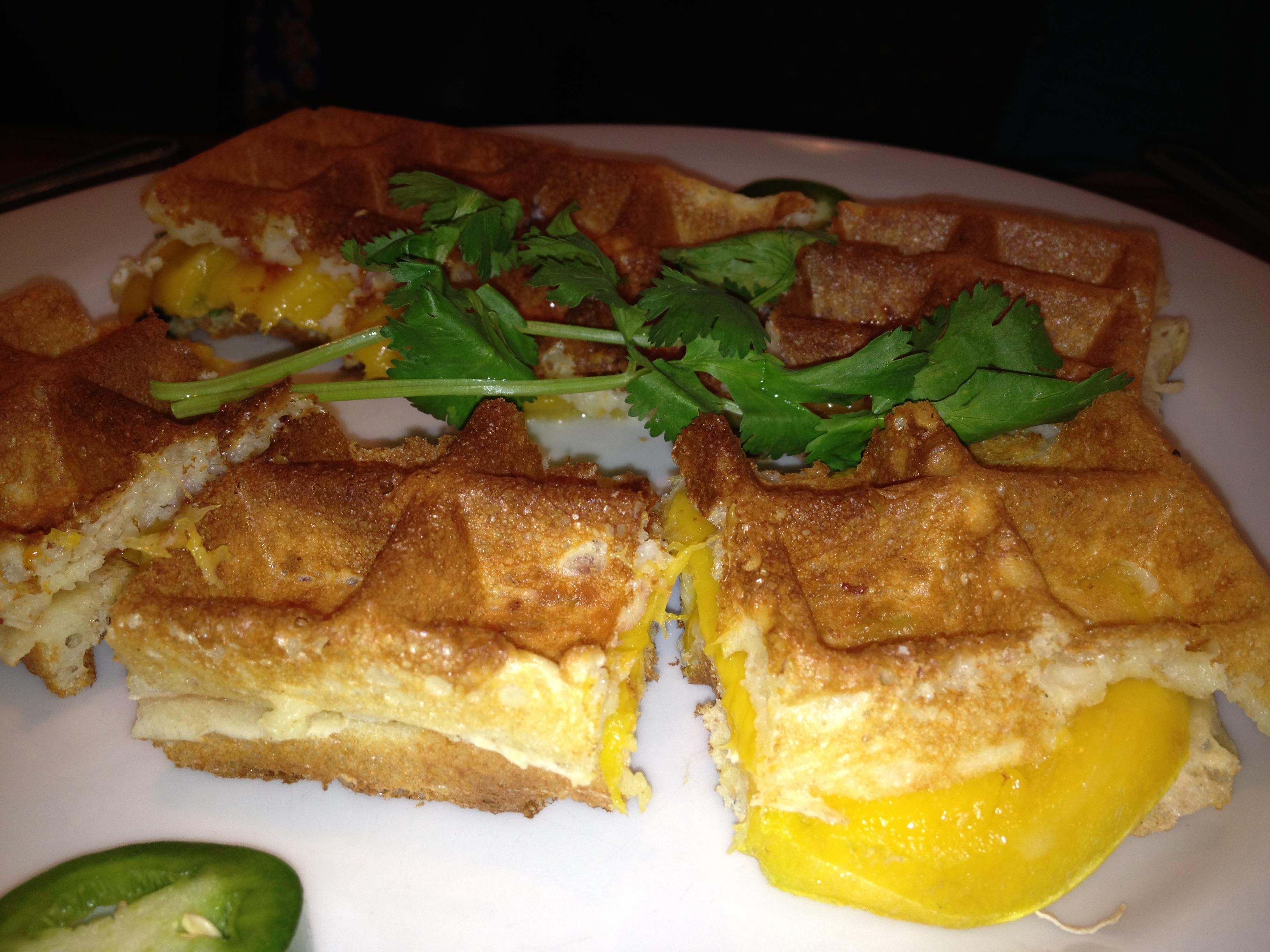 Mosaic mango waffle