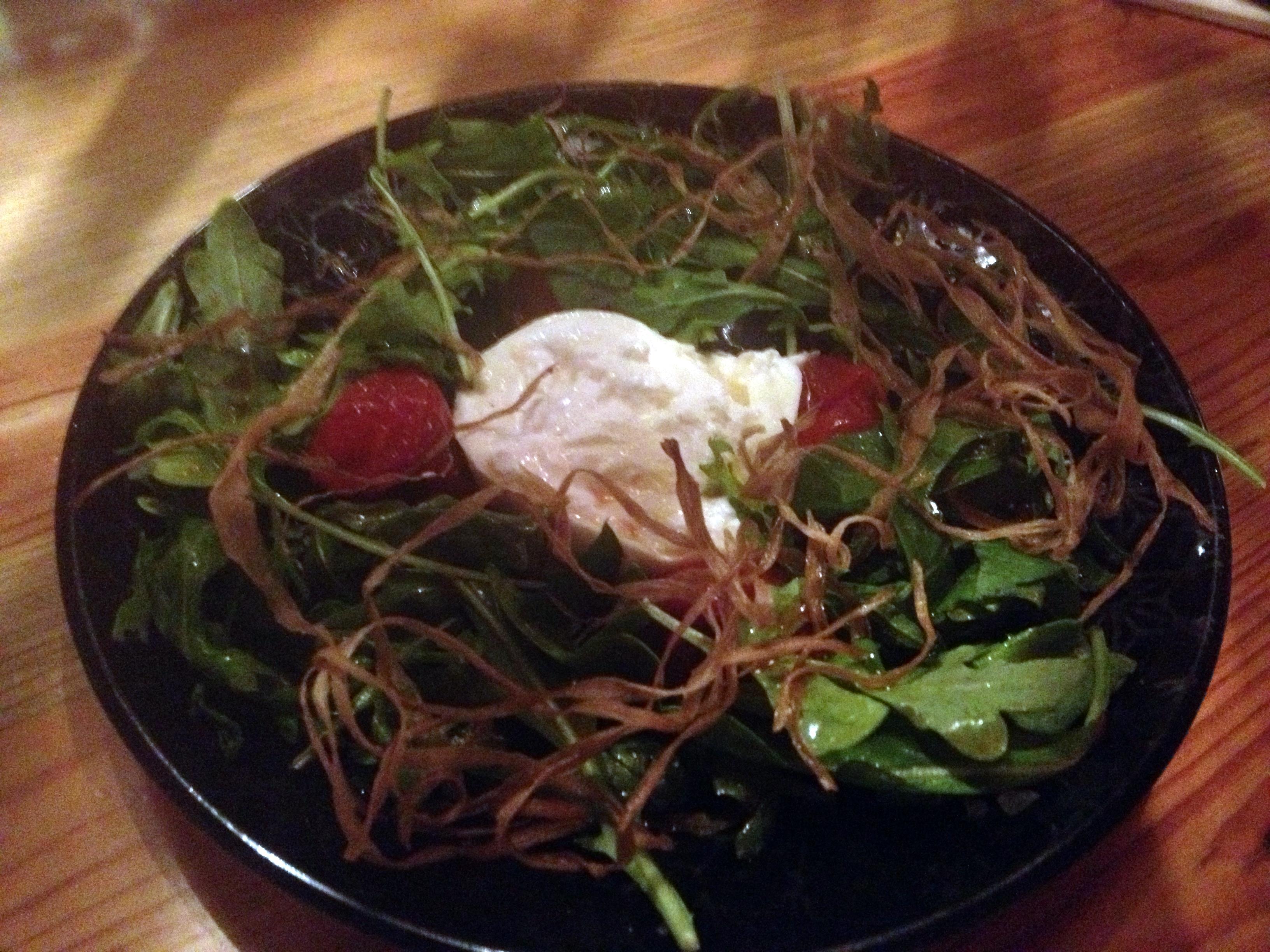 Daikaya mizuna salad