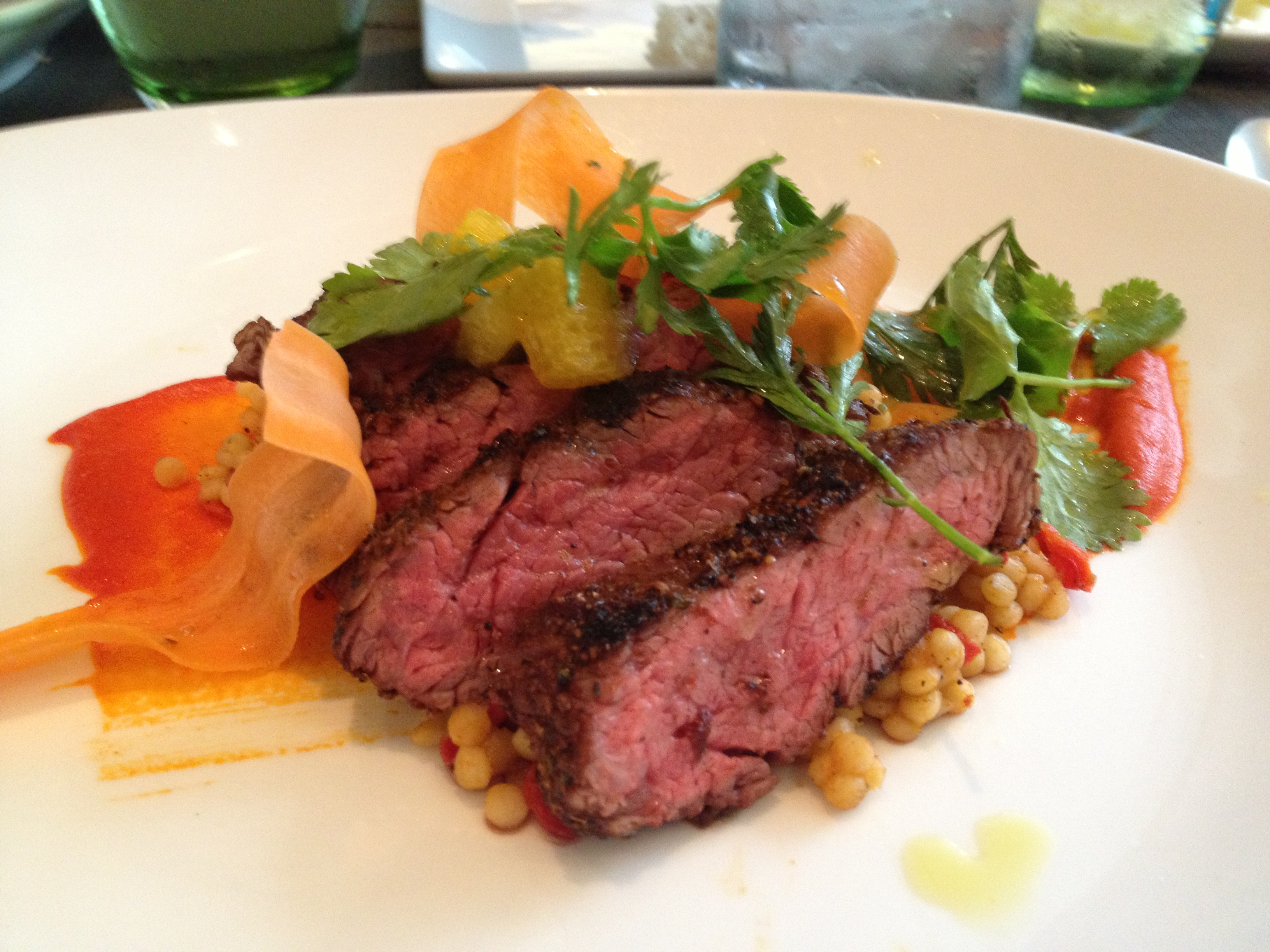 Boulud Sud flank steak