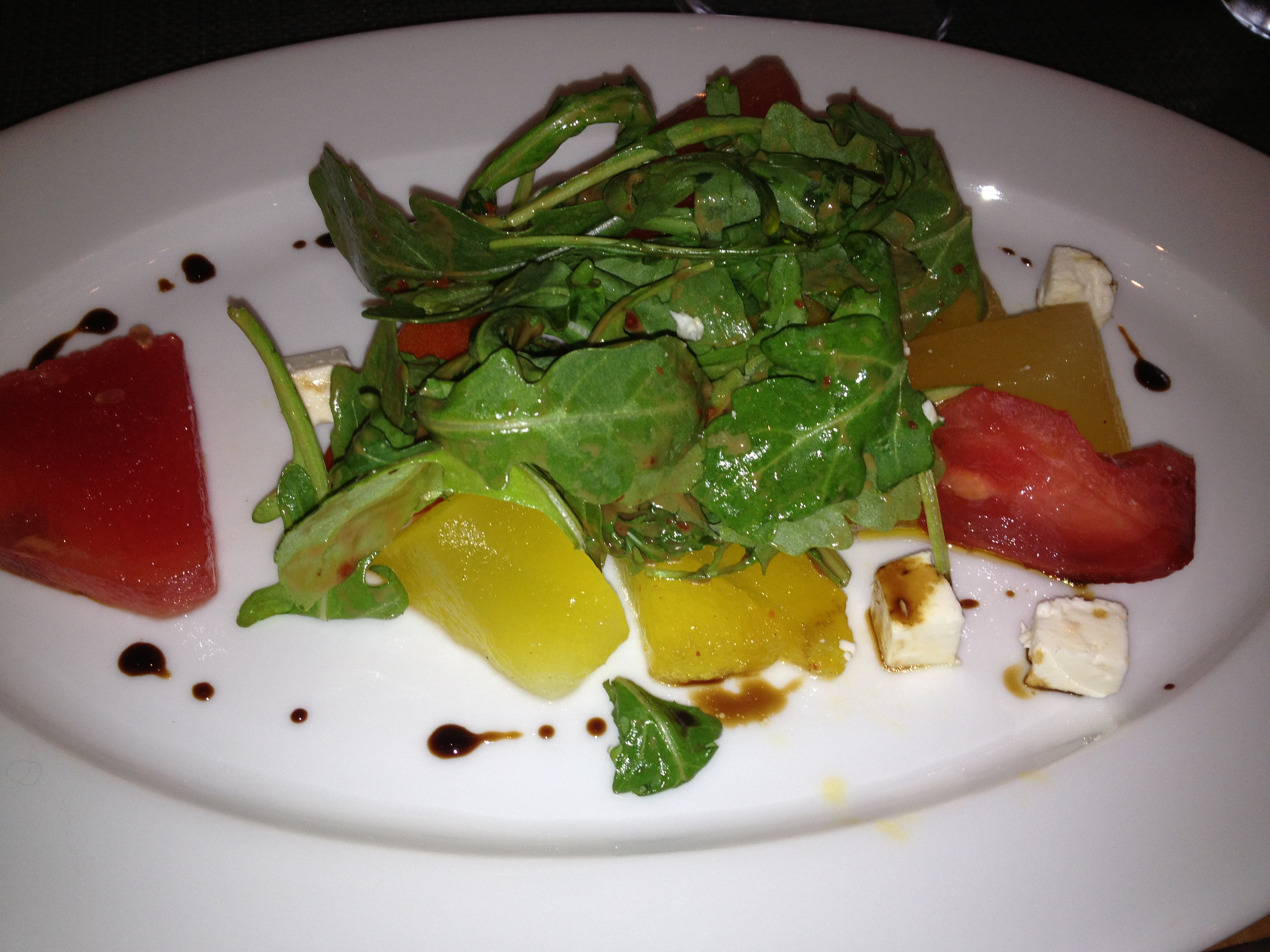 Boulud Sud heirloom watermelon salad