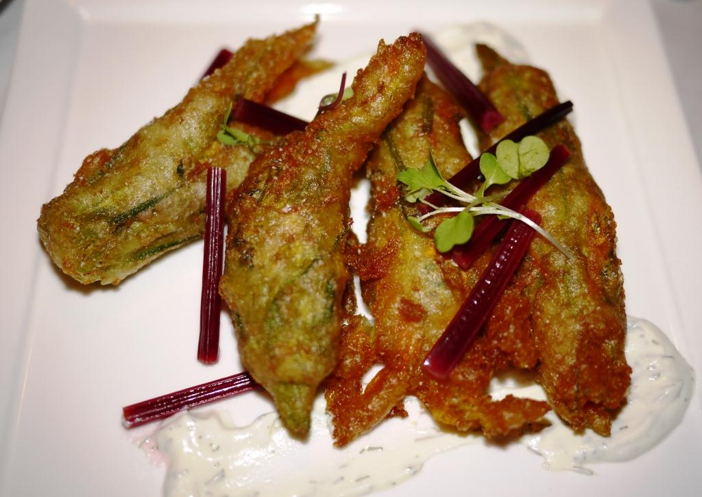 Ripple Fried Squash Blossoms