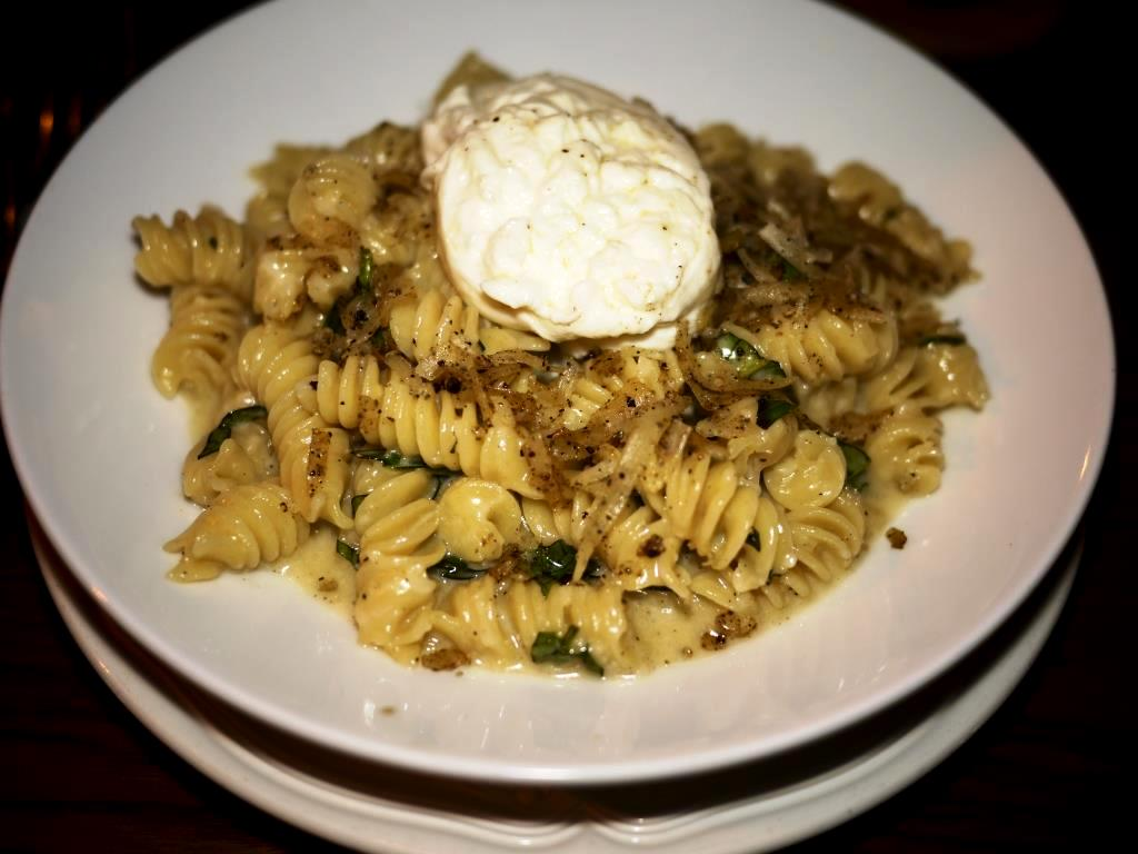 Fusilli with sheep's milk Cacio Cheese