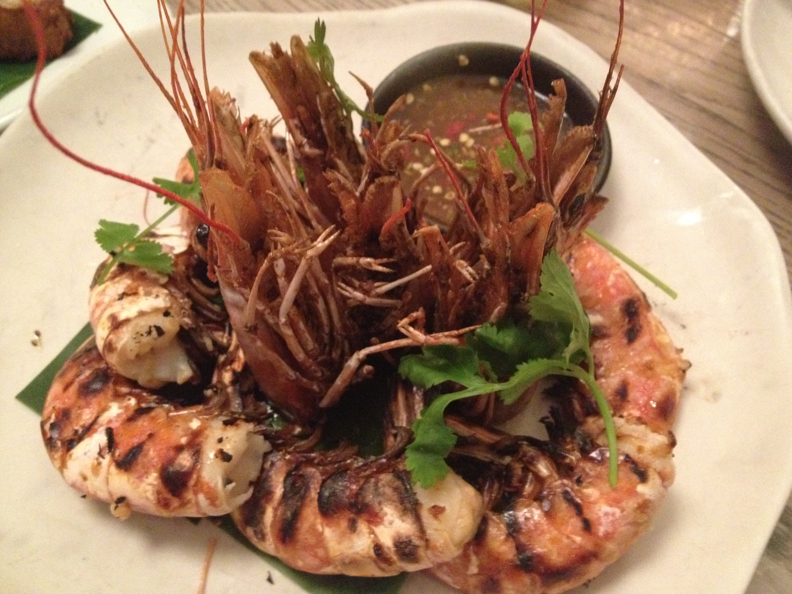 Doi Moi grilled prawns