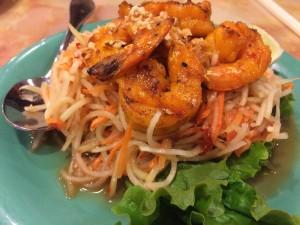 Mi La Cay papaya salad with shrimp