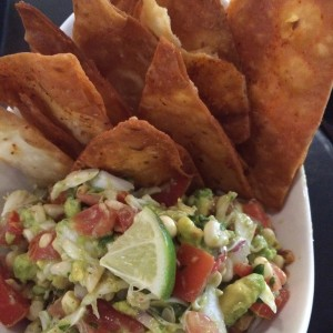 One Coastal crab guaca-salsa