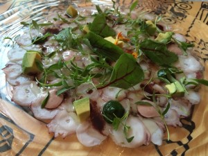 China Chilcano pulpo al olive