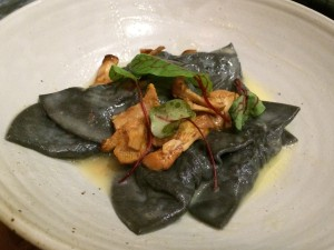 Centrolina squid ink agnolotti