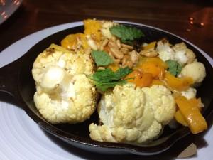 Garrison roasted cauliflower