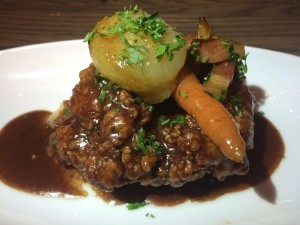Convivial fried chicken coq au vin
