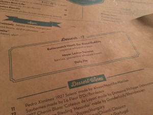 mignonette menu