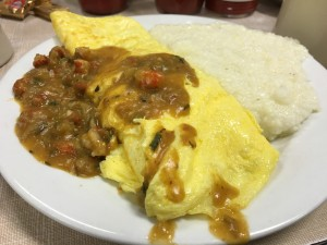 Mother's crawfish etouffe omelette
