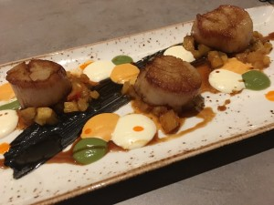Clarity seared scallops