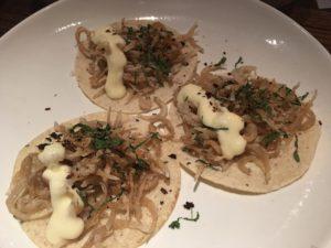 Espita Mezcaleria crispy chanquetes tacos