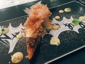 Pineapple and pearls white asparagus