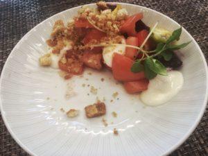 Oz beetroot caprese salad