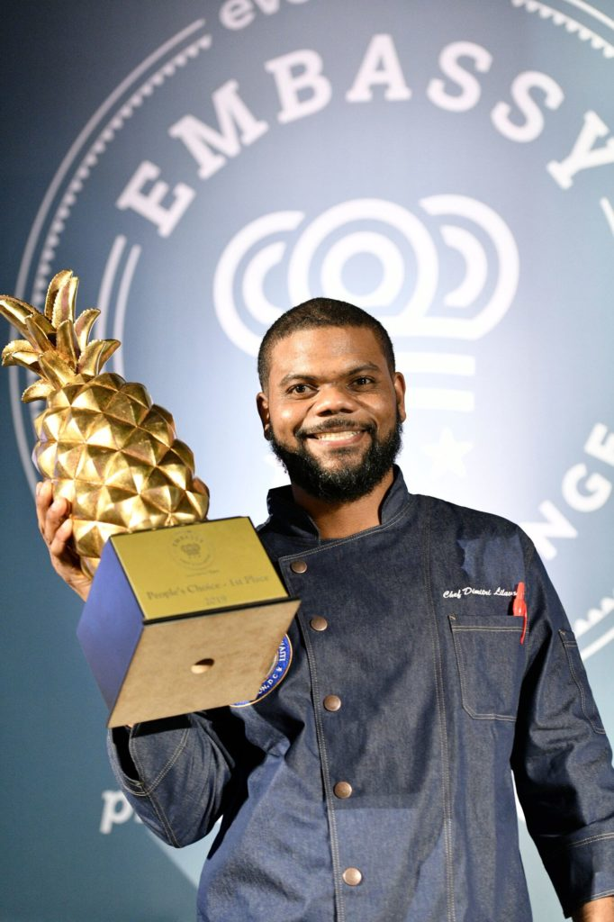 People's Choice Winner, Chef Dimitri Lilavois, Haiti