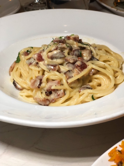 High Street Cafe pasta carbonara