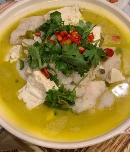 Mama Chang pickled chili flounder fish pot