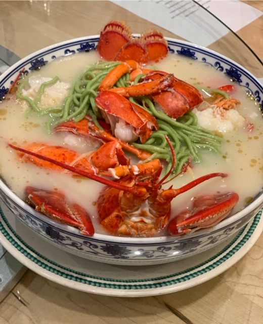 Mama Chang jade noodles with whole lobster