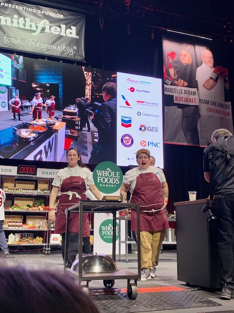 DC Capital Food Fight 2019 finalists Chef Johanna Hellrigl and Chef Marcelle Afram