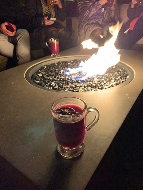 Blue Duck Tavern mulled wine in the Fire Garden